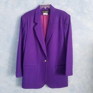 Sag Harbor| Purple One Button Blazer